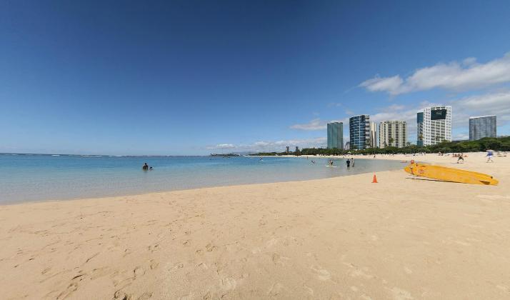 ala moana beach park a man made beach in oahu only in