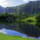 Hoomaluhia Botanical Garden - Koolau mountain range
