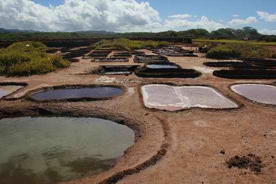 Ancient natural salt ponds at the Salt Pond Beach Park