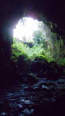 Inside Kaumana Caves