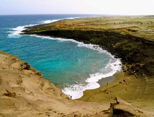 Papakolea Beach in Hawaii