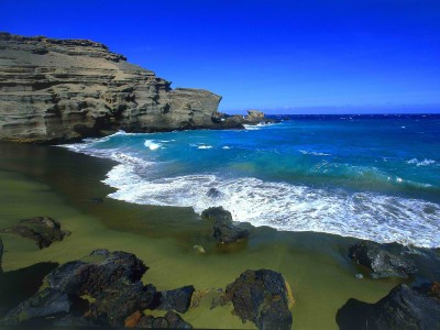 Papakolea Beach in Hawaii - Green Sand