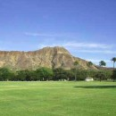 The Diamond Head as seen from Kapiolani Park