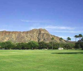 The Diamond Head as seen from Kapiolani Park