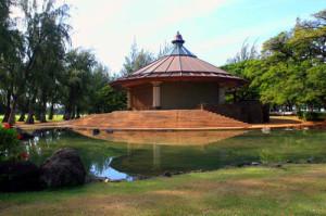 The Kapiolani Bandstand and Pond at the Kapiolani Park