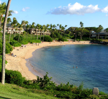 The pristine beaches of Kapalua