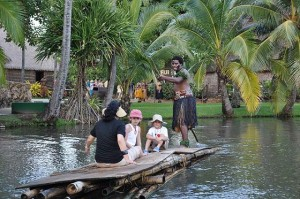 Polynesian Cultural Center - Cruising in the lagoon