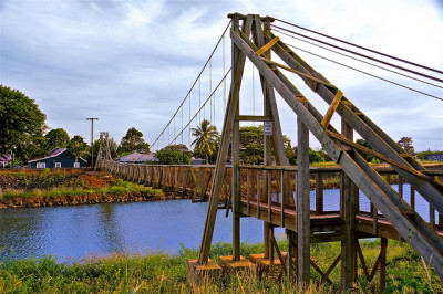 Hanapepe Swinging Bridge - Kauai, Hawaii