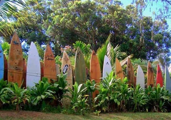 Maui Surfboard Fence - Haiku, Hawaii