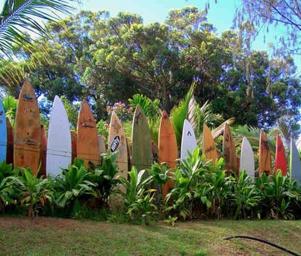 Maui Surfboard Fence - Haiku, Hawaii