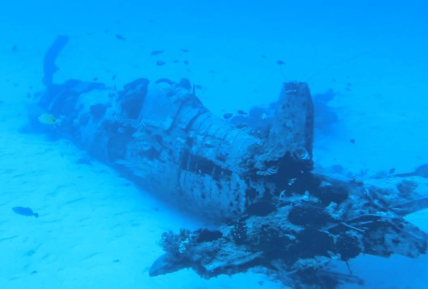 Corsair Plane Wreck - Oahu, Hawaii