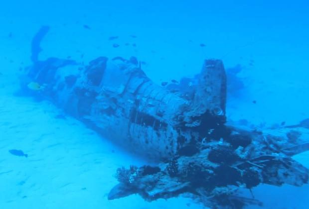 Corsair Plane Wreck - Oahu, Hawaii
