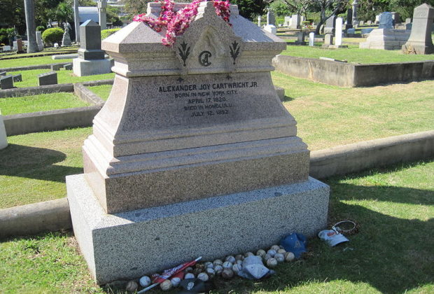 Alexander Cartwright's Grave in Oahu, Hawaii