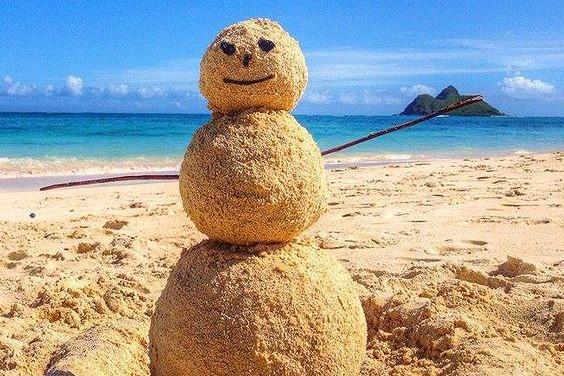 Hawaii Snowman